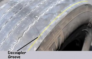 Decoupler groove along the sidewall is not a major groove.