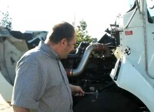 Removing tire debris with a gasket puller.