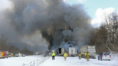 Jan. 9, 2015 I-94 Pileup near Galesburg, MI