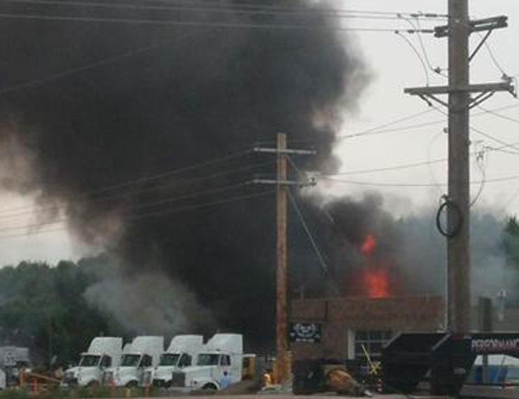 truck shop fire
