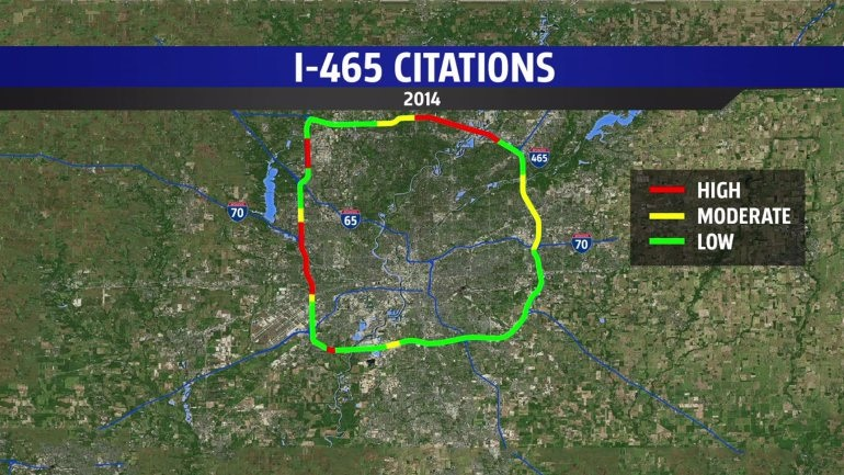 I-465 speeding violations