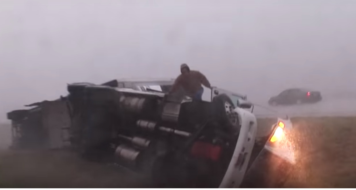 Rollover from wind