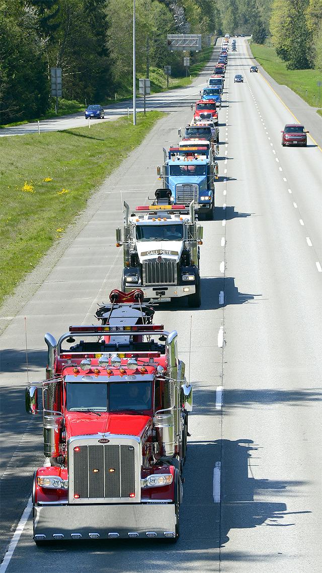 Dennis Todd memorial procession
