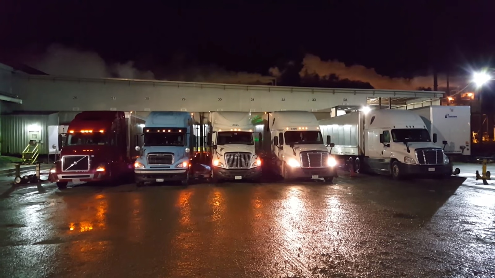 Night loading at papermill
