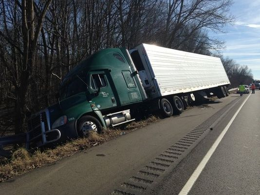 Exploding e-cigarette causes semi driver to crash.