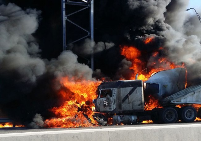 I-35 Truck Crash -- About 120 truck crashes happened in 2015