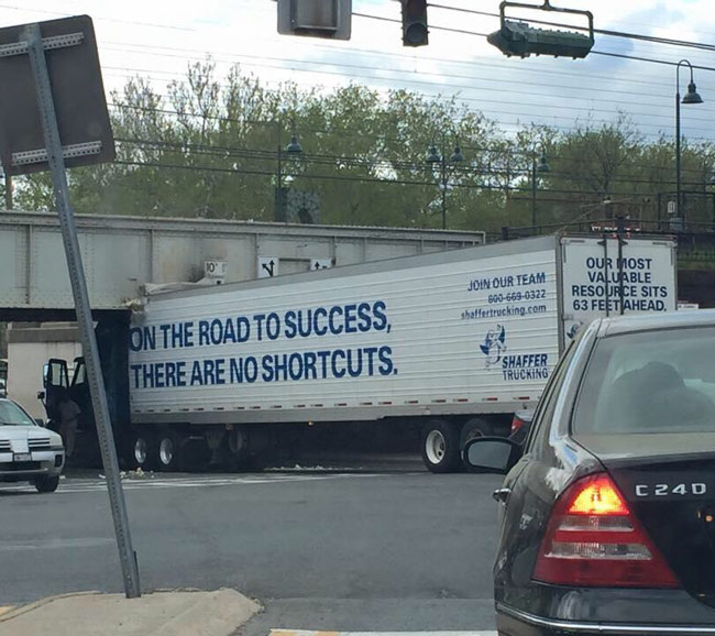 No shorts cuts on the road to success.