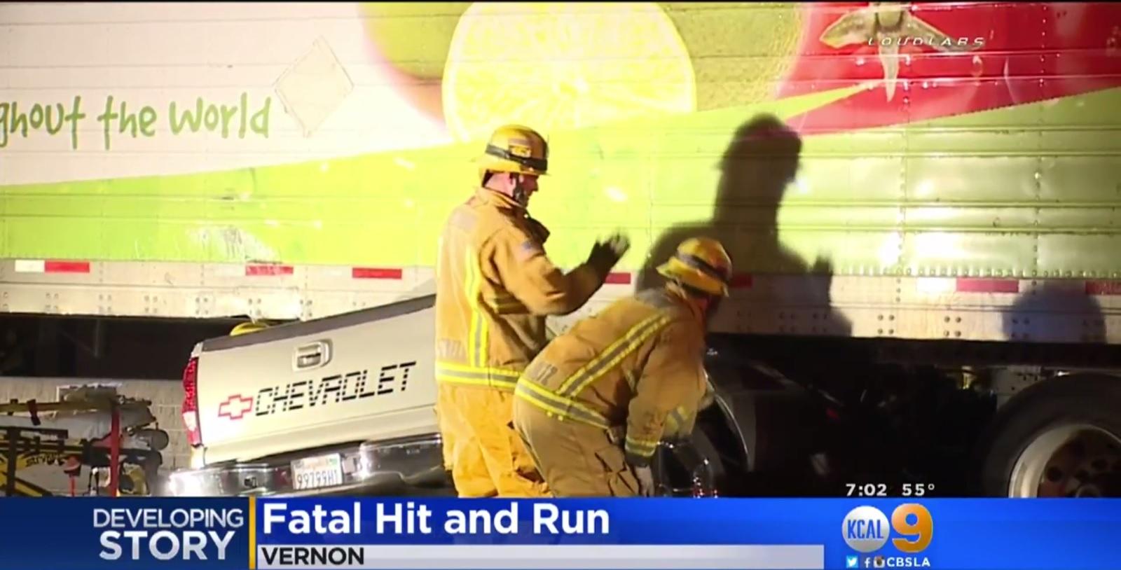 Big-rig driver flees scene