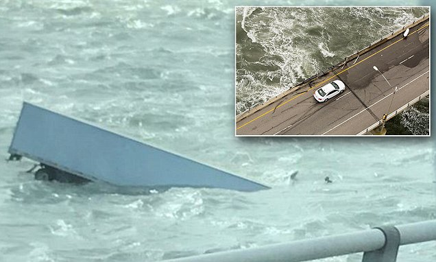 Driver blown off the Chesapeake Bay Bridge