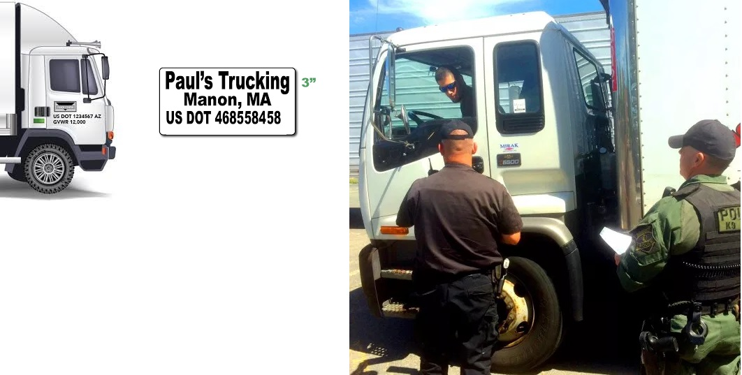 US DOT Number is required on all trucks.